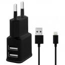 DUAL USB Nabíječka 2,4A + MFI APPLE kabel