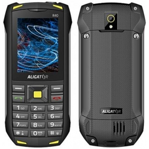 Aligátor R40 eXtremo Dual SIM Black-Yellow
