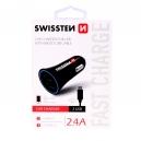CL ADAPTÉR 2,4A  2x USB +1,5m MICRO USB kabel